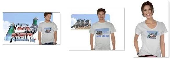 camiseas para amantes de las palomas